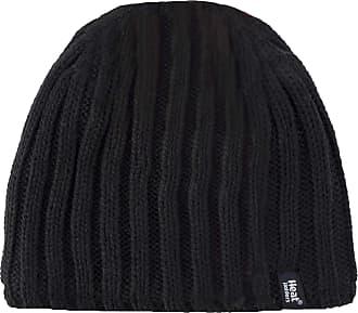 Heat Holders Mens 1 Pack 3.4 Tog Heatweaver Yarn Hat in Black Black
