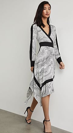 BCBGeneration Lightwave Stripe Handkerchief Dress