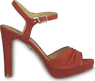 de8e10f4b2b Tamaris Sandales cuir Myggia - TAMARIS - Rouge