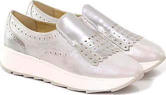 Geox SNEAKER SLIP ON GENDRY B IN SUEDE PERLATO 15 colore SILVER fb385454245