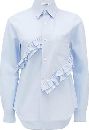Comme Des Garçons Comme Des Garçons Comme Des Garçons - Ruffled Cotton Shirt - Womens - Light Blue