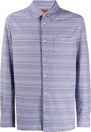 Missoni Camisa de algodão com estampa chevron - Azul