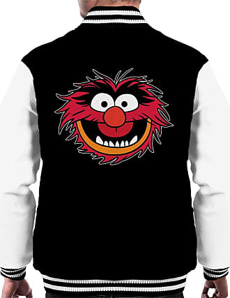 Disney Classic The Muppets Animal Grin Mens Varsity Jacket Black/White