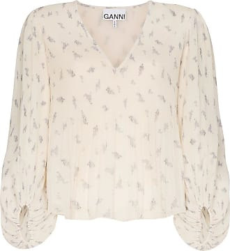 Ganni floral print blouse - Yellow