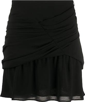 Iro gathered chiffon mini skirt - Black