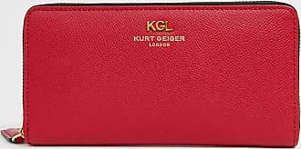 Kurt Geiger Kurt Geiger - Geldbörse aus Leder mit Rundum-Reißverschluss in Rot