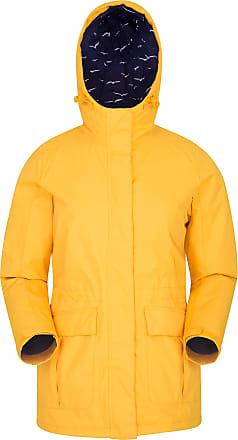 Mountain Warehouse Portobello Waterproof Womens Jacket - Lightweight Coat, Breathable, Taped Seams Raincoat, Casual Top - for Winter, Travelling, Walking Mustard 14