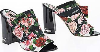 Dolce & Gabbana 11cm Roses Printed Sabot Größe 37,5