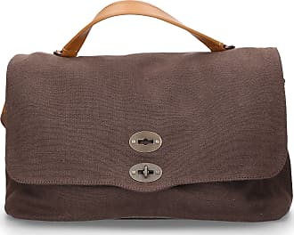 Zanellato Handbag CANVAS canvas logo brown
