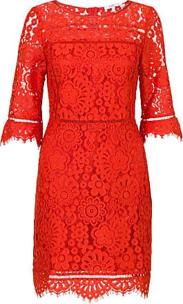 Steps Kanten jurk rood
