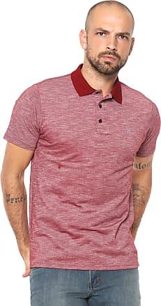 8fe46c096788d Hurley Camisa Polo Hurley Reta Mescla Vermelha