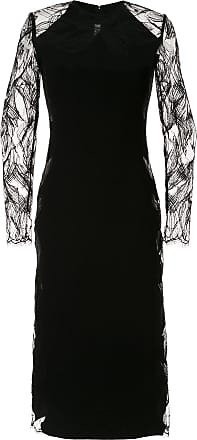 Dion Lee floral lace midi dress - Black
