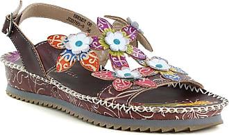 87fb370ae134 Laura Vita Brendy 08 JD3765-8 Womens Sandals - Chocolate UK 5