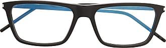 Saint Laurent Eyewear Armação de óculos retangular SL344 - Preto