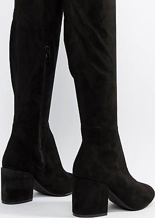 d018f9e209b481 Raid Kola - Schwarze Overknee-Stiefel mit rundem Zehenbereich - Schwarz