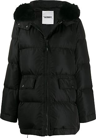 Yves Salomon parka coat - Black