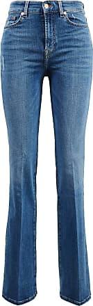 7 For All Mankind Baumwoll-Bootcut-Jeans Lisha Mittelblau