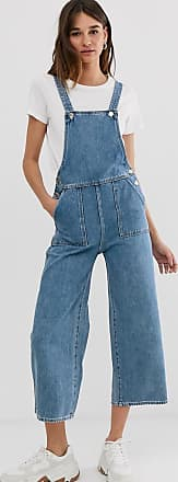 Monki Salopette di jeans blu
