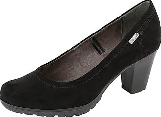 Jana 22440 Taurus Wide Fit Smart-Casual JanaTex Court Shoes in Black 37 Black