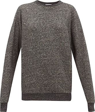 Raey Raglan-sleeve Cotton-blend Sweatshirt - Womens - Dark Grey