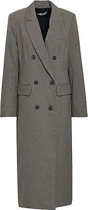 Rebecca Minkoff Rebecca Minkoff Woman Turner Double-breasted Houndstooth Woven Coat Gray Size XXL