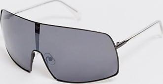Weekday Hike - Sonnenbrille mit schwarzen, verspiegelten Gläsern