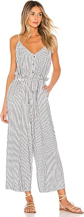 Splendid Yarn Dye Stripe Jumpsuit in Blue