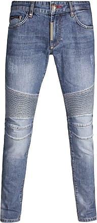 Philipp Plein Some Nights Biker Jeans 32 32 Blue