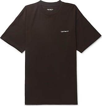 Carhartt Work in Progress Script Logo-embroidered Cotton-jersey T-shirt - Black