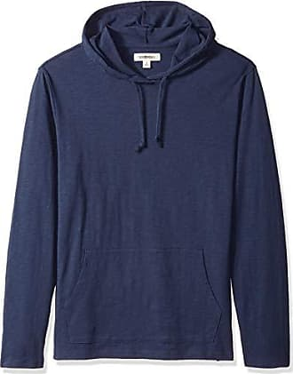 Goodthreads Mens Lightweight Slub T-Shirt Hoodie, Navy, XX-Large