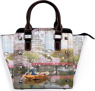 Browncin Pink Himeji Castle With Beautiful Cherry Blossom In Spring Season At Hyogo Near Osaka Japan Is Famous Detachable Fashion Trend Ladies Handbag Shoulder