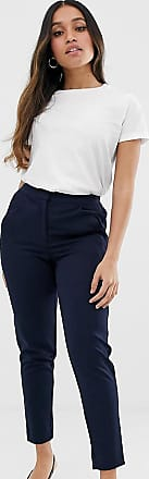 Y.A.S tailored trouser with elasticated waist in navy
