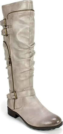 White Mountain Womens Remi Closed Toe Over, Charcoal/Burnished Smooth, Size 8.5 US / 6.5 UK US