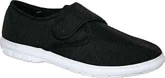 Northwest Territory Mens Lightweight Touch Close Strap Canvas Summer Shoe Black 7