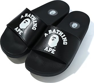 A Bathing Ape College slide sandals
