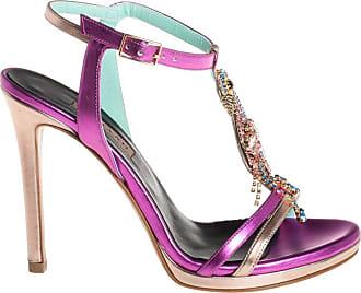 Albano sandalo con accessorio strass, 35 / fuxia