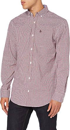 Original Penguin Mens Gingham Check Shirt Casual, Red (Tawny Port 608), Medium (Size:M)