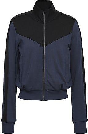 A.L.C. A.l.c. Woman Two-tone French Terry Turtleneck Jacket Storm Blue Size XS