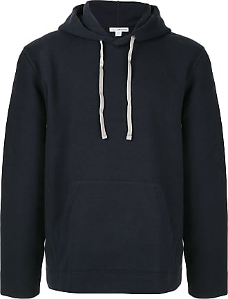 James Perse loose-fit contrast-stitching hoodie - Blue