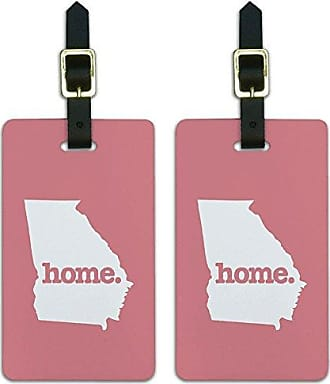 Graphics & More Graphics & More Georgia Ga Home State Luggage Suitcase Id Tags-Solid Salmon Pink, White
