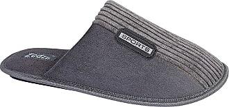 Zedzzz Joe Mens Mule Slippers Grey UK 10