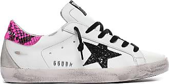 GOLDEN GOOSE Baskets Superstar Cuir Blanc Python Rose