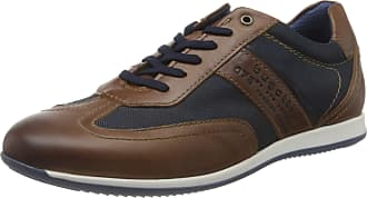 Bugatti Mens 311450103069 Low-Top Sneakers, Brown (Brown/Dark Blue 6041), 10.5 UK