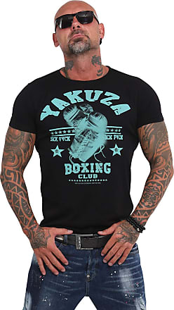 Yakuza Men T-Shirt Boxing Club, Color:Black, Size:XL