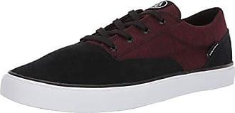 Volcom Mens Mens Draw LO Suede Shoe Skate Shoe, Port, 10 D US