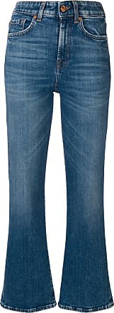 7 For All Mankind flared cropped jeans - Blue