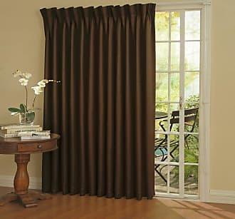 Eclipse Thermal Blackout Patio Door Curtain Panel Espresso - 12109100X084ESP