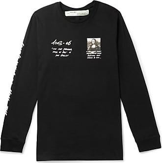 Off-white Printed Cotton-jersey T-shirt - Black