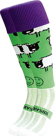 Wackysox Wackysox Love Ewe Socks - Green/Purple/White - size 11-14