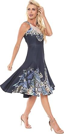 bd1081105 Lança Perfume Vestido Lança Perfume Midi Lady Like Azul-marinho